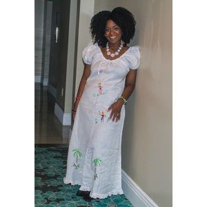 SOLD // Embroidered Artisan Dress + Bag from Haiti